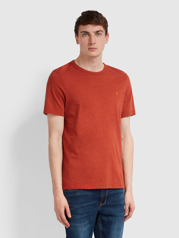 Dennis Slim Fit T-Shirt In Russet Marl