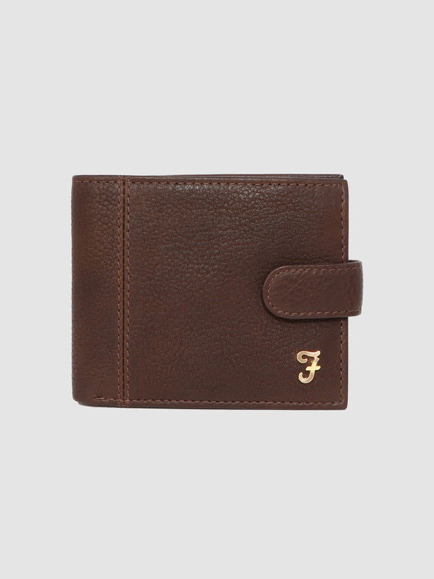 ASHINGTON GRAIN LEATHER BI FOLD WALLET IN CHESTNUT