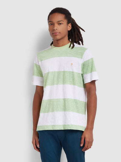 Bay Striped T-Shirt In Green Haze
