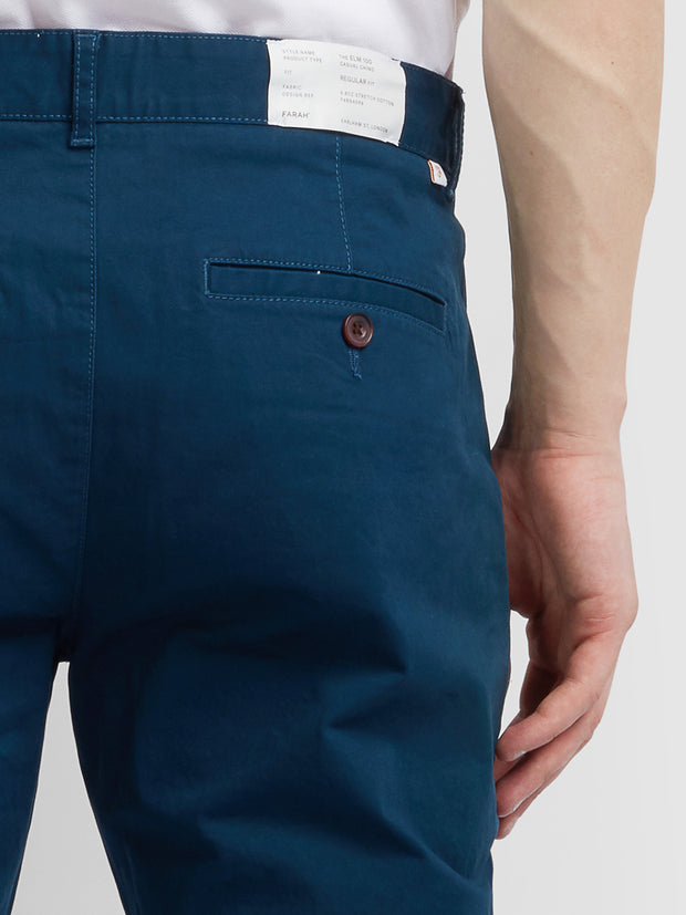 Elm 100 Regular Fit Twill Chinos In Farah Teal