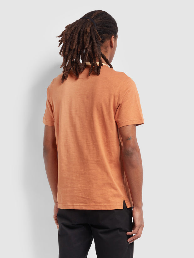 Groove Slim Fit Pocket T-Shirt In Moroccan Orange