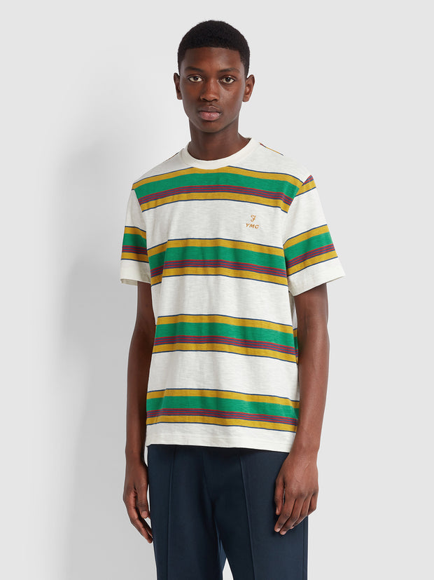 Farah X YMC Alexis T-Shirt In Off White
