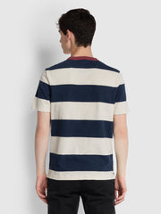 Watson Striped T-Shirt In Yale Marl