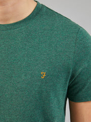 Denny Slim Fit Marl T-Shirt In Green Lawn Marl