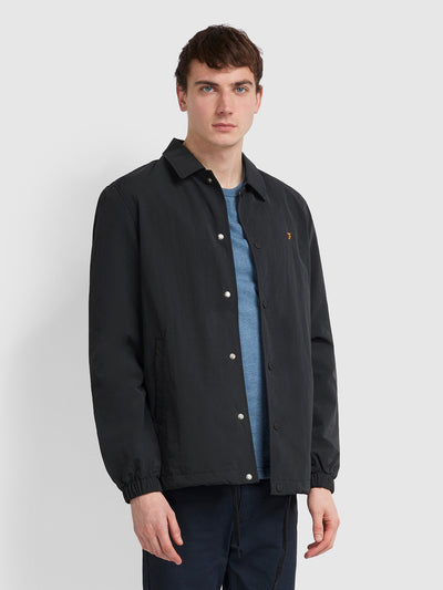 HANSA COACH JACKET IN DEEP BLACK