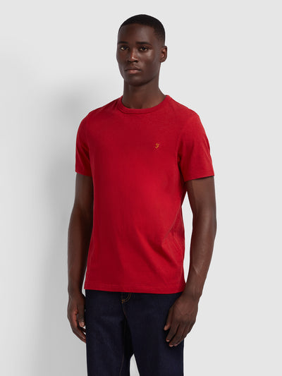Dennis Slim Fit T-Shirt In Red Chilli Marl