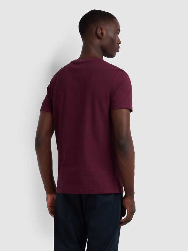 Sunset Slim Fit T-Shirt In Farah Raspberry