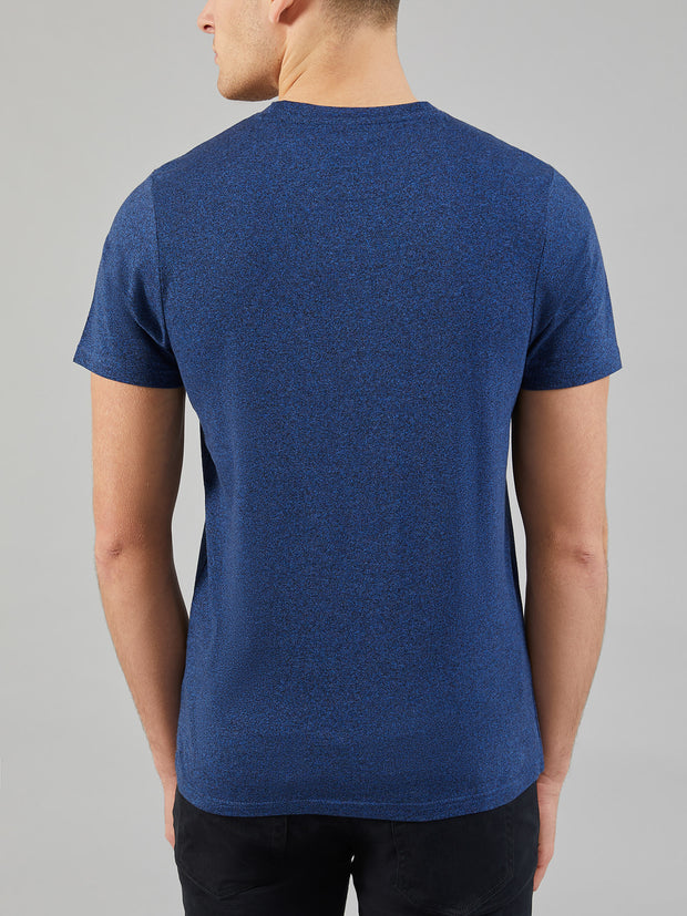 DENNY SLIM FIT MARL T-SHIRT IN NEON BLUE MARL