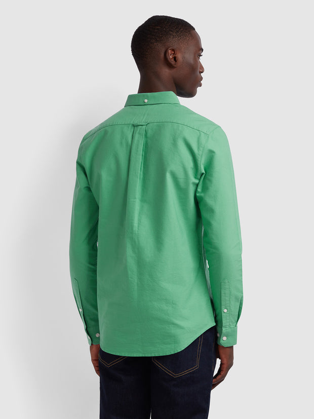 BREWER SLIM FIT OXFORD SHIRT IN JADE GREEN