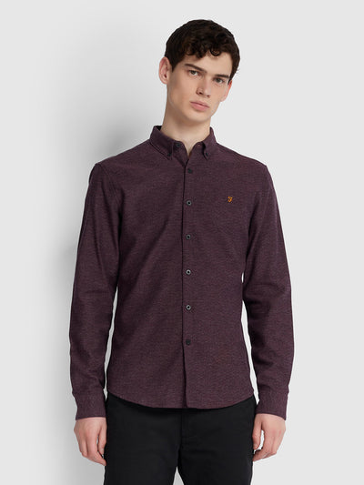 Kreo Slim Fit Brushed Cotton Shirt In Azalea
