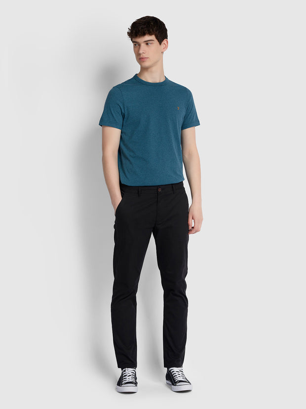 DENNIS SLIM FIT T-SHIRT IN BRIGHT PETROL MARL