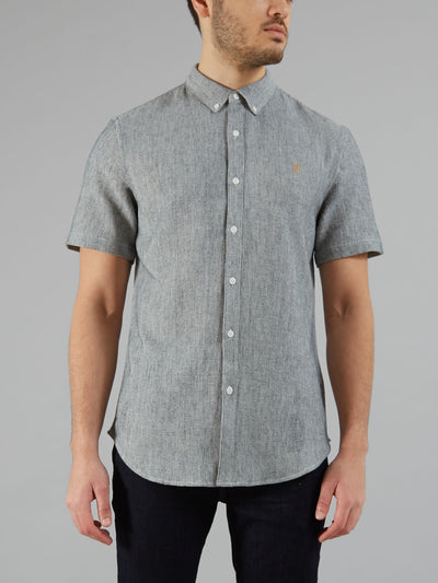 Ingleton Short Sleeve Shirt In True Navy