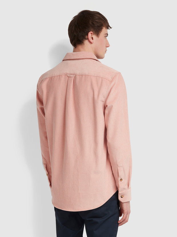 NEUKOLN CASUAL FIT CORD SHIRT IN BLUSH