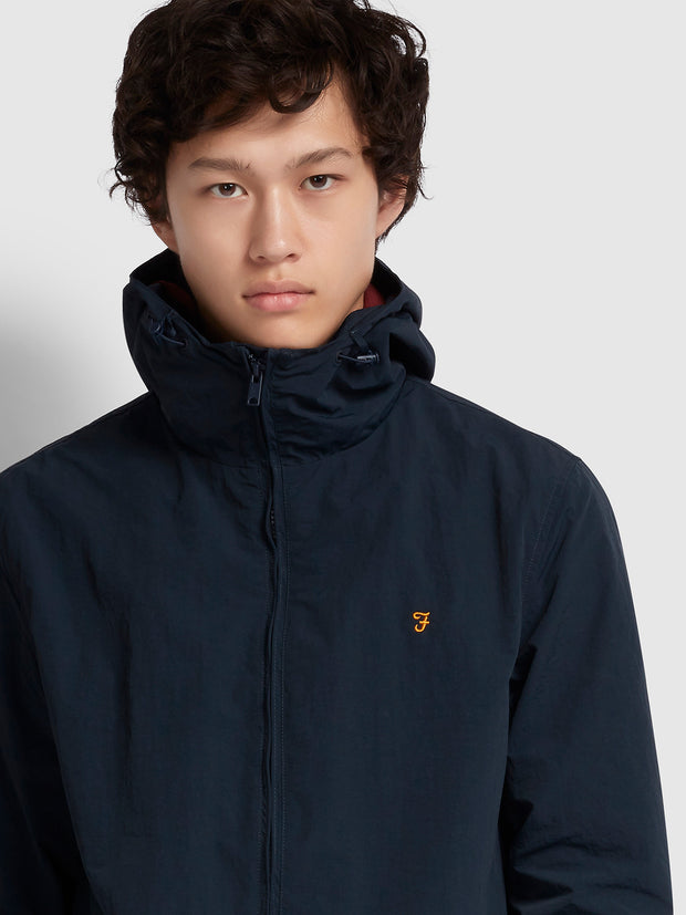 Stones Hooded Jacket In True Navy
