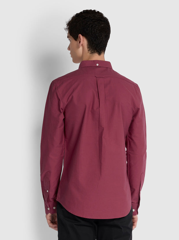BREWER SLIM FIT OXFORD SHIRT IN AZALEA