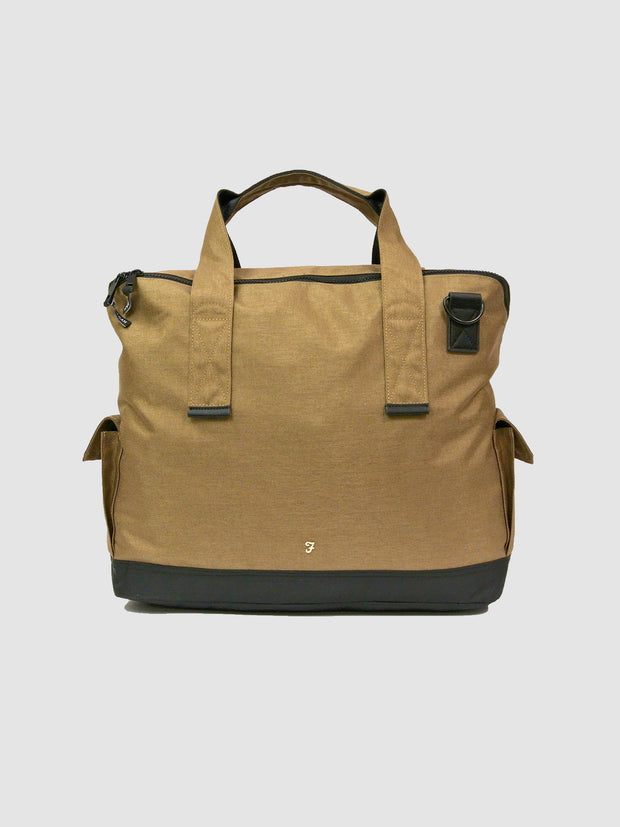 Helix Hopsack Holdall In Rich Olive