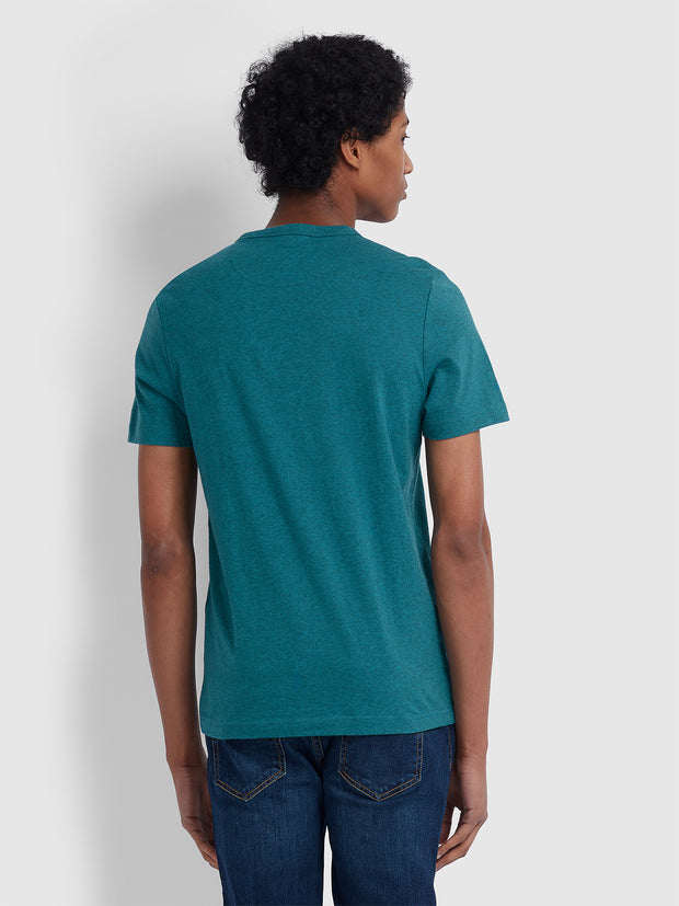 DENNIS SLIM FIT T-SHIRT IN BRIGHT AQUA MARL