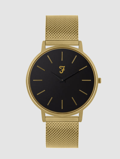 Farah Slim Gold Tone Watch In Gold