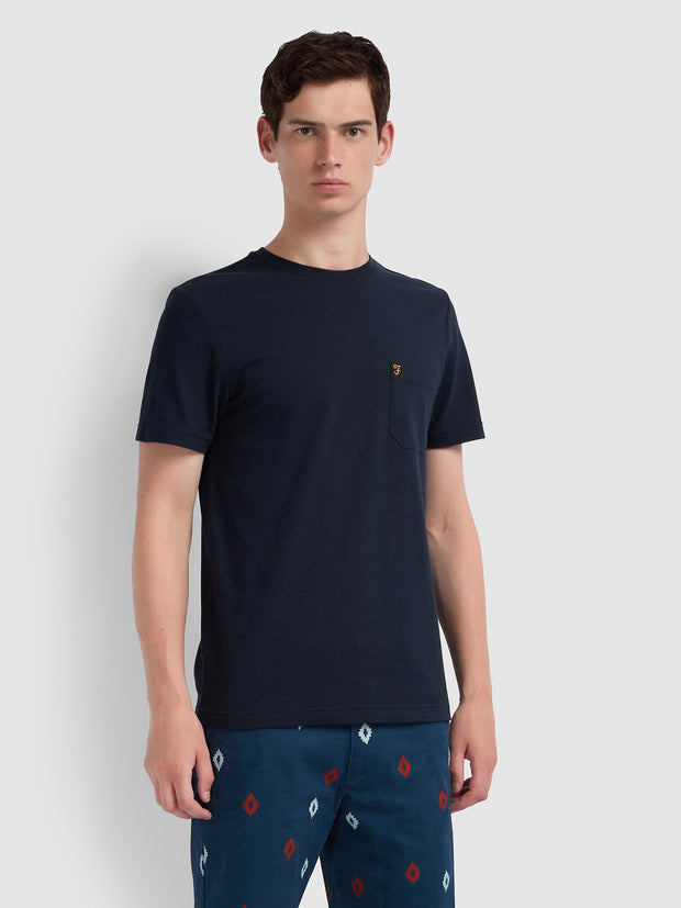 Sunset Slim Fit T-Shirt In True Navy