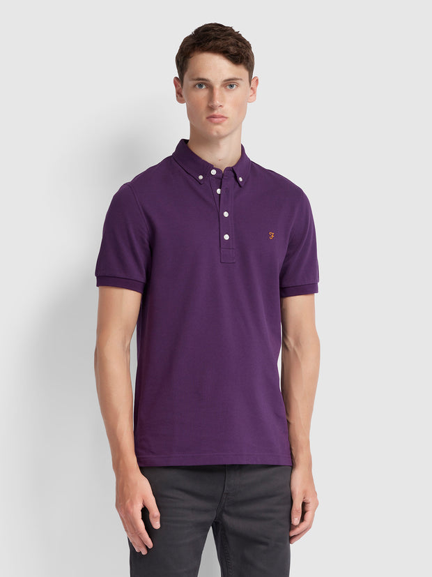 Ricky Slim Fit Polo Shirt In Bright Purple