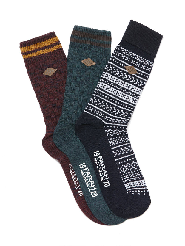 Farah Socks In Assorted Colours