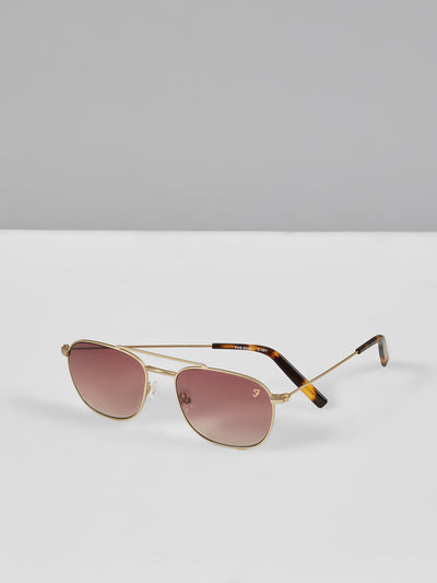 SQUARE AVIATOR SUNGLASSES IN GOLD