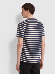 Mansour Slim Fit Striped T-Shirt In True Navy