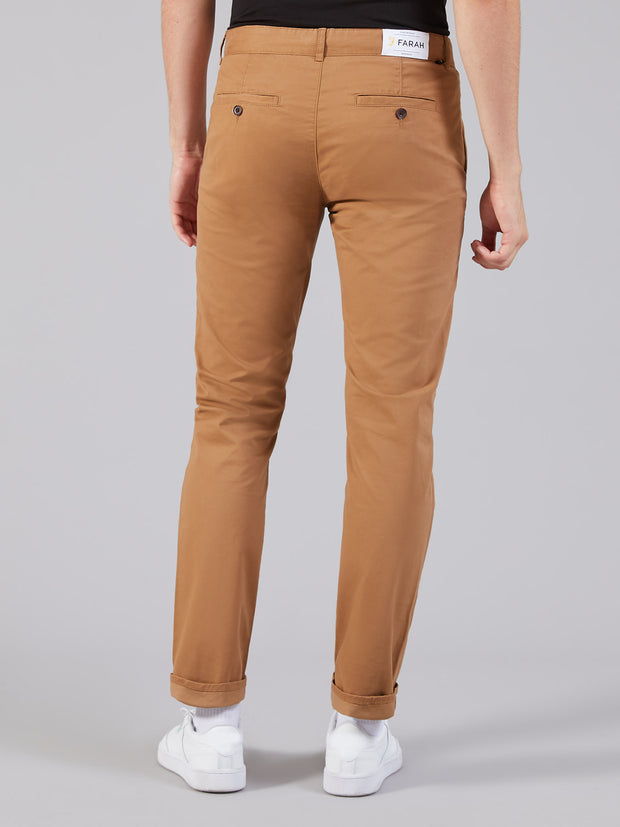Elm Regular Fit Twill Chinos In Camel