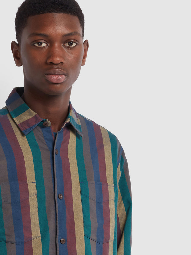 Farah X YMC Ethiopian Shirt In Golden Yellow