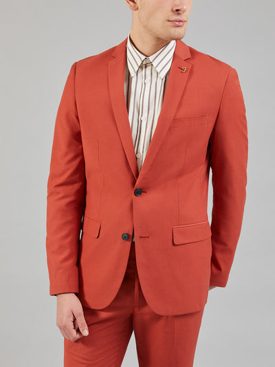 HENDERSON BLAZER IN RED OCHRE