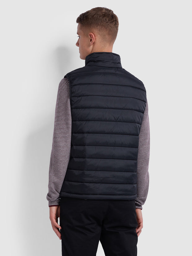 DOVER GILET IN DEEP BLACK