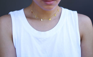 Star Choker Necklace Gold Star Necklace