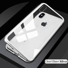 Load image into Gallery viewer, Vincitti- Tempered Glass, Anti-Scratch, Shatter proof Metal Magnetic Case For IPhone