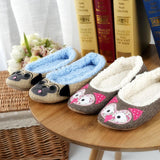 Ladies Pet Slippers Indoor Floor Plush  Slippers Home Cotton Animals