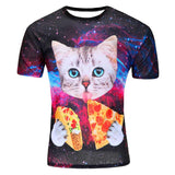 2018 New arrivals Brand clothing 3-D Printed Cat Unisex T-Shirt