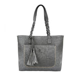 New 2018 Large Capacity Women's Famous Designers Leather Tassel Handbag