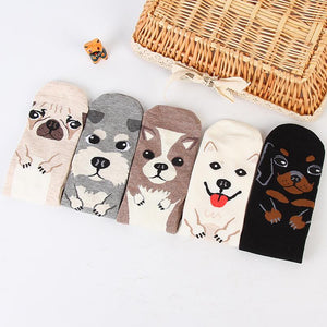 1 Pair Women men children Fashion Dog Patterns Cotton Winter Socks Cute