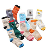 Cute cartoon pet patterns cotton socks for women children 4pairs