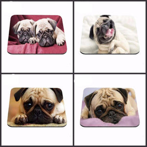 Cute Pug Mouse Pad Gaming ear Anti-Slip Durable Rubber Mousepad for PC Optical Mouse As A Gift