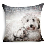 Cute Pet Pug Pillow Labrador Schnauzer Family French Bull Dog Euro Pillows