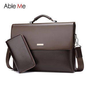 Men's AbleMe Business Handbag Fashion Leather Laptop Shoulder Messenger Bags