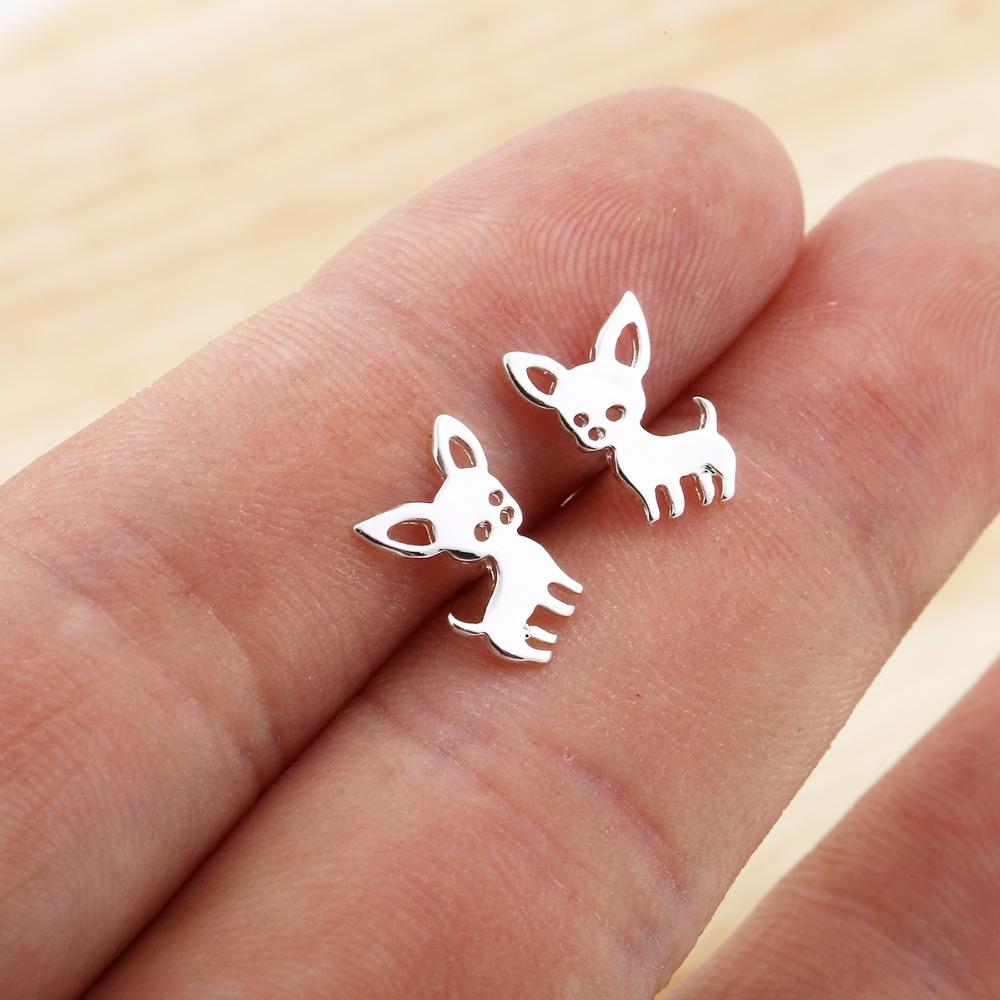 New Chihuahua Stud Earrings for Women also pendant 2018