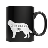 Golden Retriever Dad Black Mug