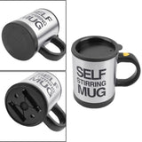 Self Stirring Mug Black Automatic Pressing Self Stirring Mug Mixing Coffee Cup Lazy button Best Birthday Gift for Friends