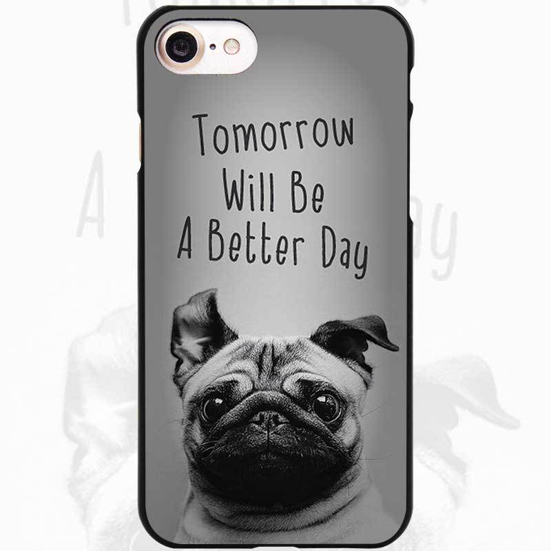 Funny Pug Doing Yoga Black Scrub Case Cover Shell for iPhone Apple 4 4s 5 5s SE 5c 6 6s 7 Plus