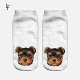 New Arrival 3D Pug pet Print Socks Casual low Cut women children