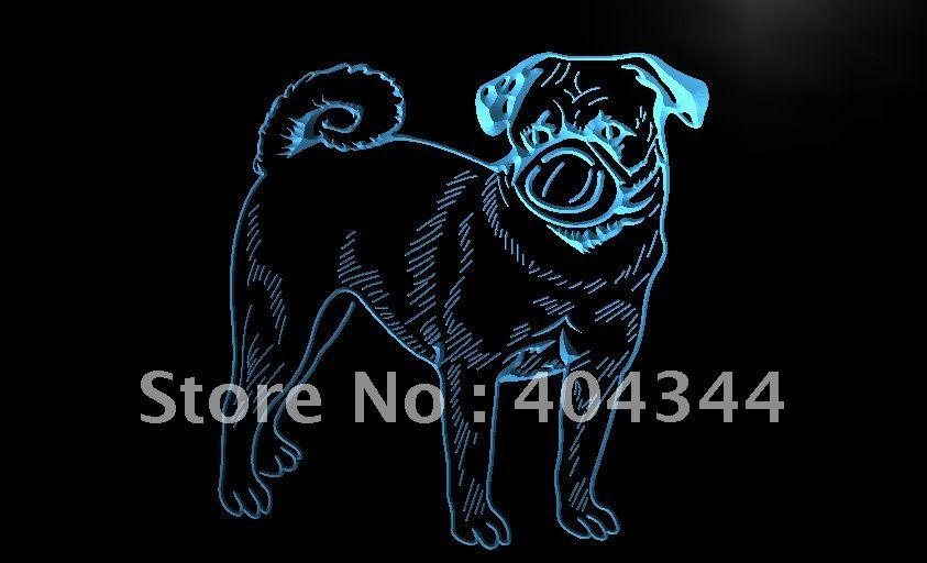 Pug Pugs Dog Pet Lure LED Neon Light Sign