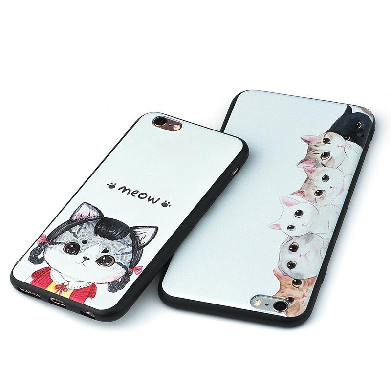 Pug Lovers Cartoon Painting Phone Cover Case for iPhone 6 6S 7 Plus SE 5S 5 for Pug Lovers