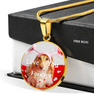 Love You Forever 18k Gold Necklace For Loved One