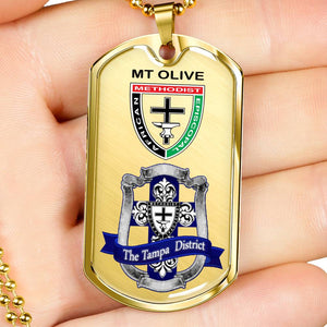 AME Tampa District Silver Dog Tag Mt Olive